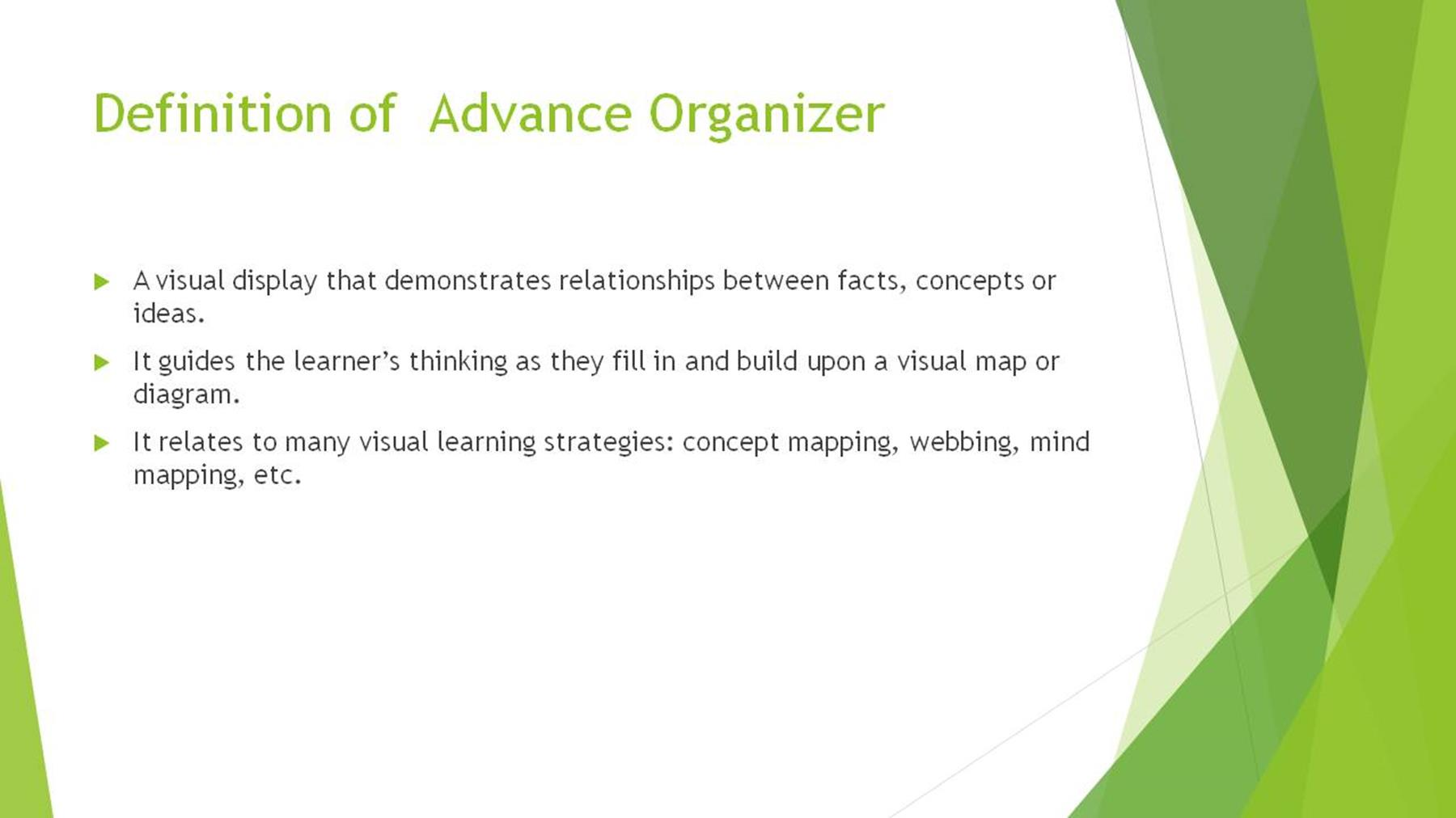 Sw 11 Qess Workshop Ao Instructional Strategy Advance Organizer And