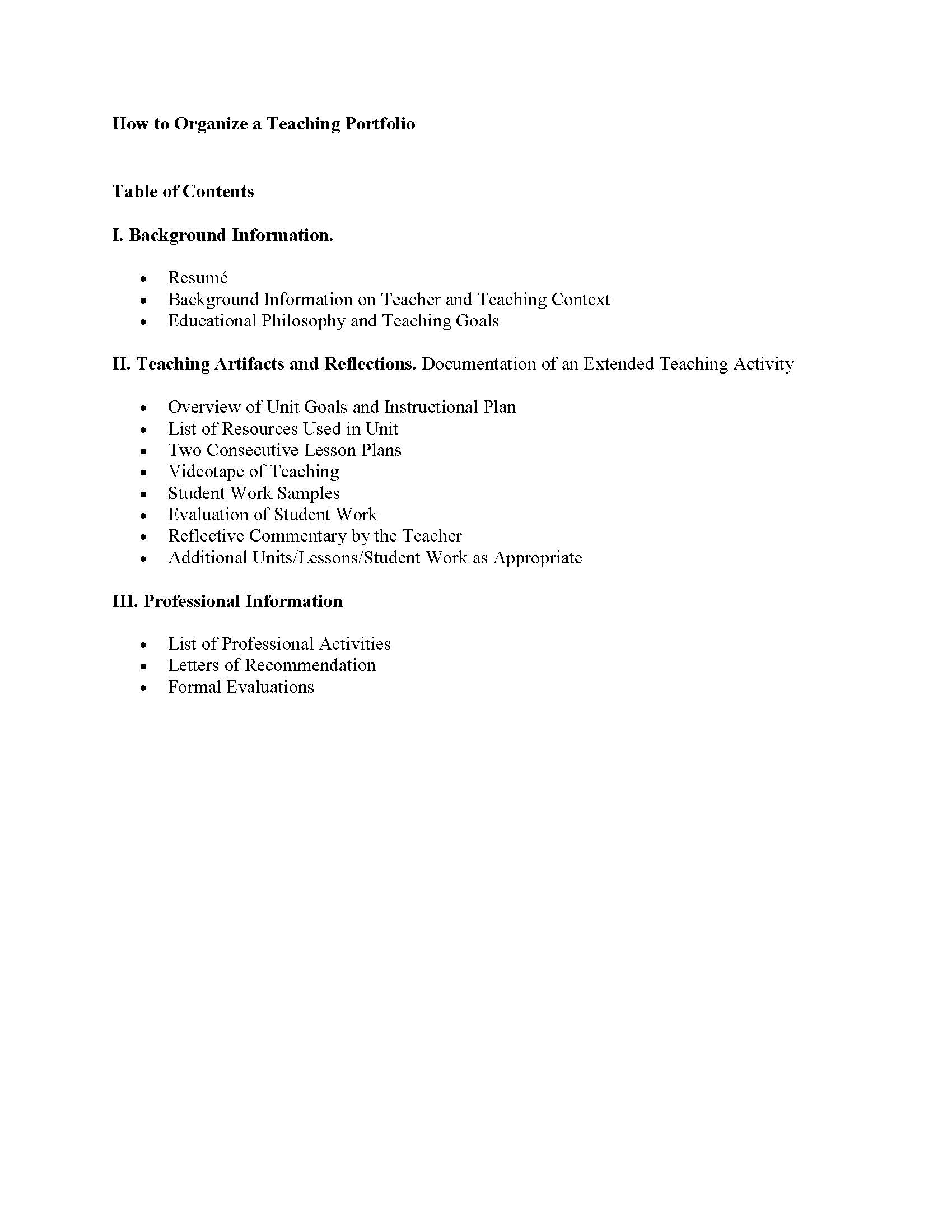 SW-16-QESS-Writing up Teaching PortfolioHow to Organize a